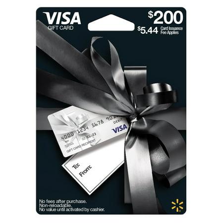 Visa Giftcard Walmart Everyday Gift Card $200