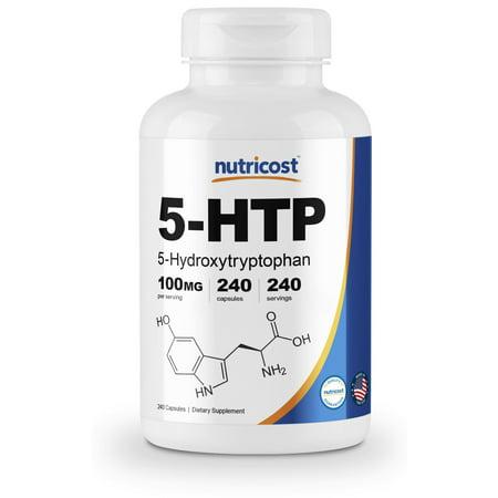 Nutricost 5-HTP Capsules 100mg, 240 Capsules Bone Up 240 Capsules