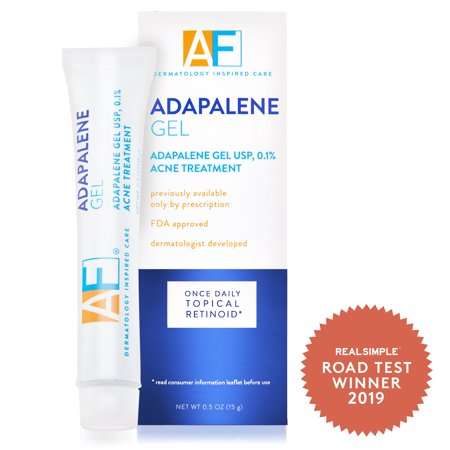 AcneFree Adapalene Gel 0.1% Once-Daily Retinoid Acne Spot Treatment, 0.5 oz.