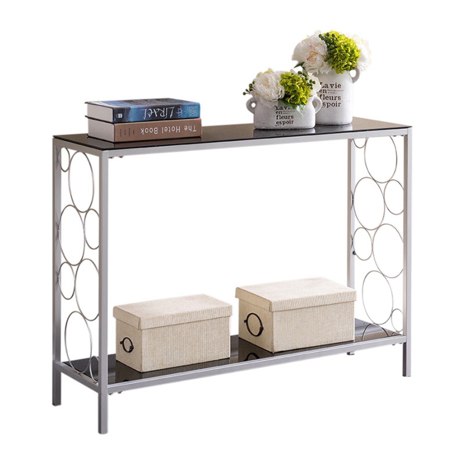K&B Furniture Spellbound Console Table with 1 Shelf