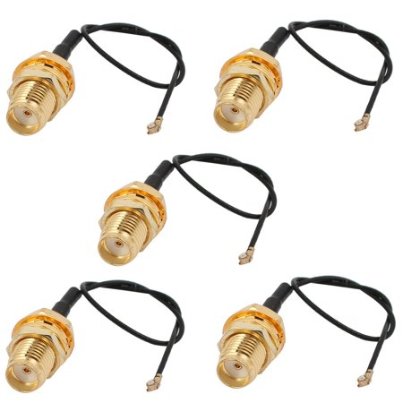 5 Pcs RF0.81 Soldering Wire IPEX3 to SMA Antenna WiFi Pigtail Cable 10cm Long
