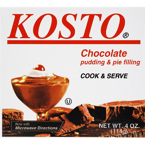 Kosto Chocolate Pudding & Pie Filling, 4 oz (Pack of 6)