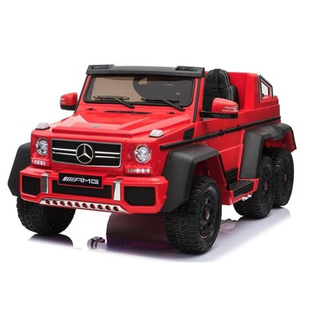 Luxury 6x6 Edition 6 Wheels Mercedes Benz G63 12V Kids Ride on Car, Battery  Powered Toy with Doors, Music, Lights,Rubber Wheels, Remote