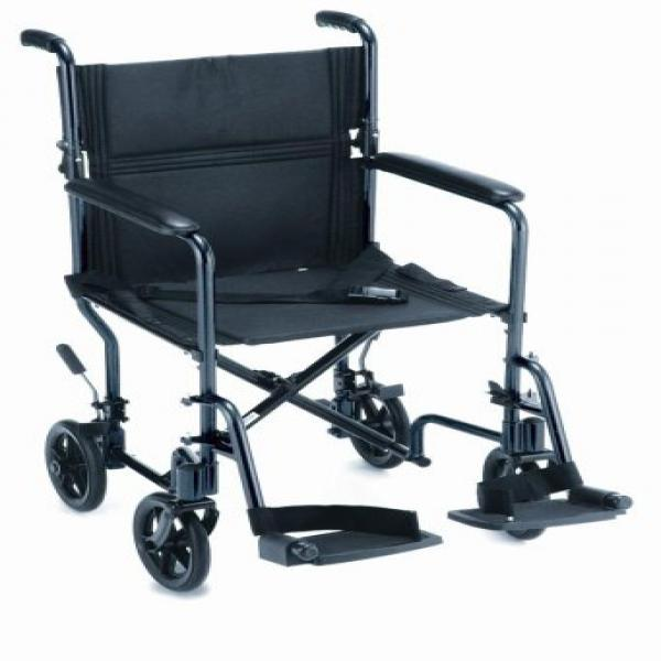 NOVA Medical Products 19 Lightweight Transport/Wheelchair, Black