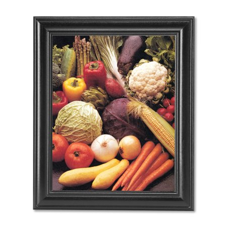 Squash Carrots Corn Peppers Onions Kitchen Photo Wall Picture Black - Kitchen Framed Picture