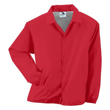 Augusta Sportswear Mens Brushed Tricot Jacket, Red, Small, Style, -