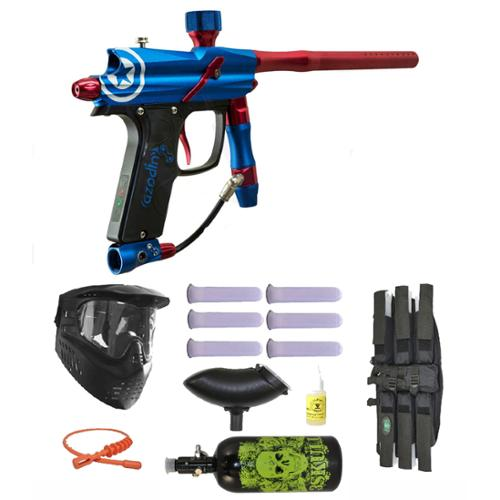 Click here to buy Azodin Blitz Evo Electronic Paintball Marker Gun 3Skull N2 Mega Set.