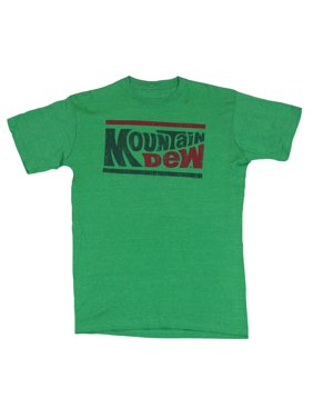 7962f439a Product Image Mountain Dew Mens T-Shirt - Red and Green Wording 70s Logo