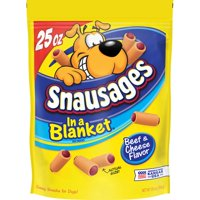 Snausages In a Blanket Beef & Cheese Flavor Dog Snacks (Various Sizes)