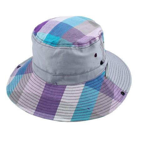 12289b9f5 Fisherman Fishing Picnic Holiday Plaid Pattern Wide Brim Summer Beach Hat  Gray | Walmart Canada