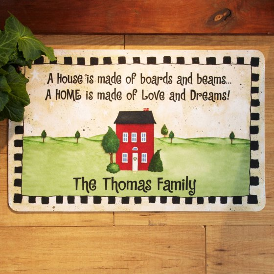 Personalized Boards And Beams Doormat