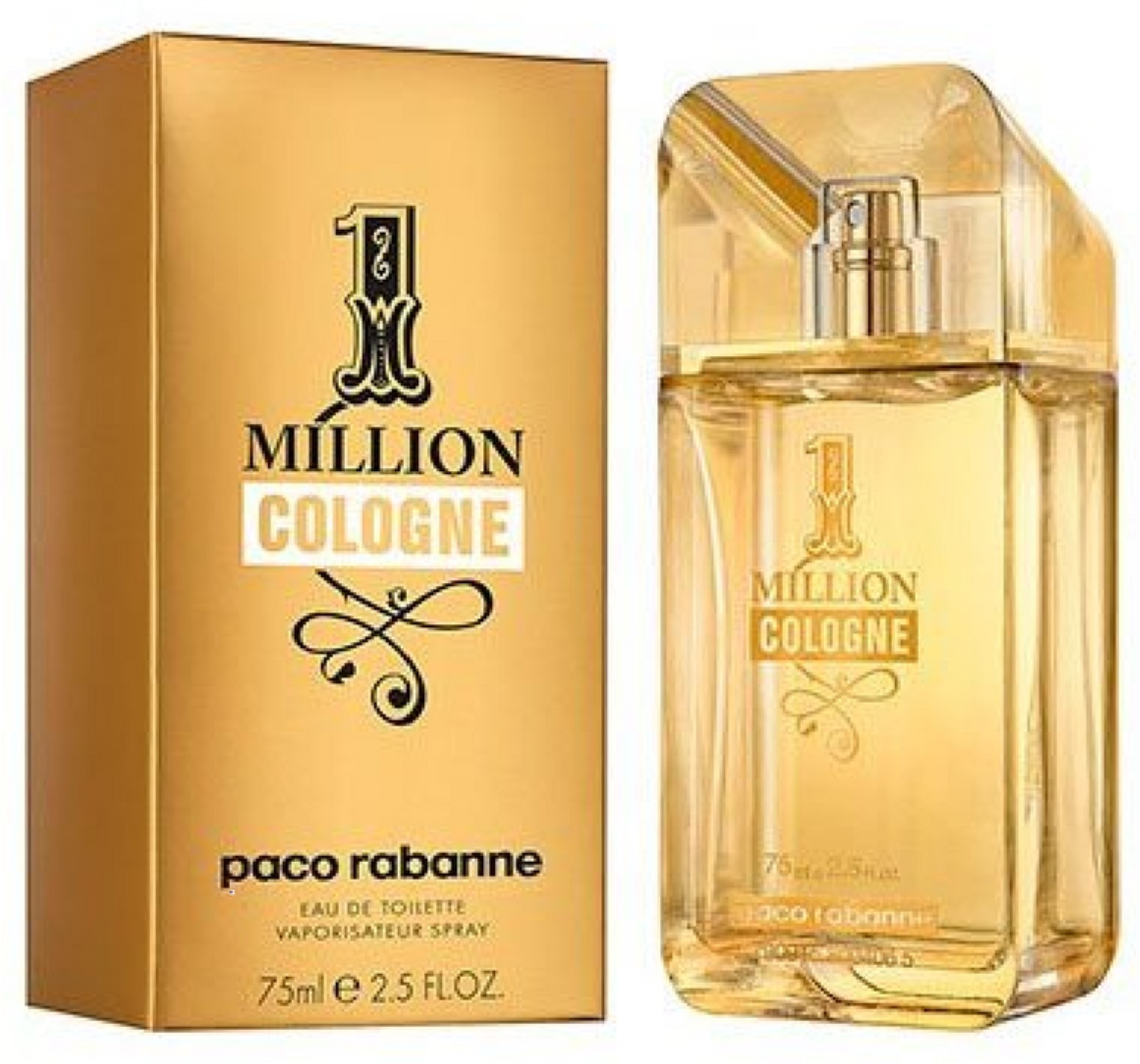 1 Million by Paco Rabanne Cologne Eau de Toilette Spray for Men 2.5 oz