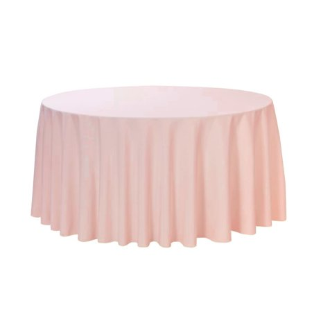 120 Round Tablecloth (Your Chair Covers - 120 inch Round Polyester Tablecloth Blush for Wedding, Party, Birthday, Patio,)