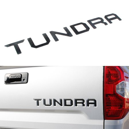 iJDMTOY Matte Black Finish 3D 6pcs Tailgate Letter Fit For 2014-up Toyota Tundra (Made w/Plastic not Paper)