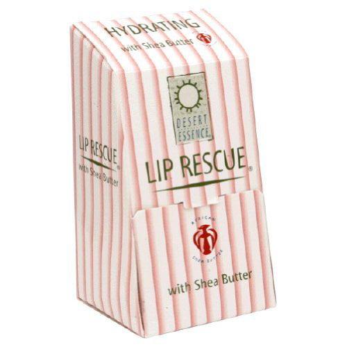 Desert Essence Shea Butter Lip Rescue Display 24 pc