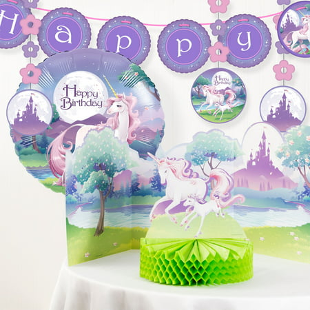 Unicorn Fantasy Birthday Party Decorations Kit