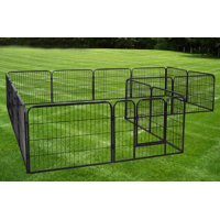 Product Image Tms 24 Tall 16 Panels Heavy Duty Metal Pet Dog Puppy Cat Exercise Fence Barrier