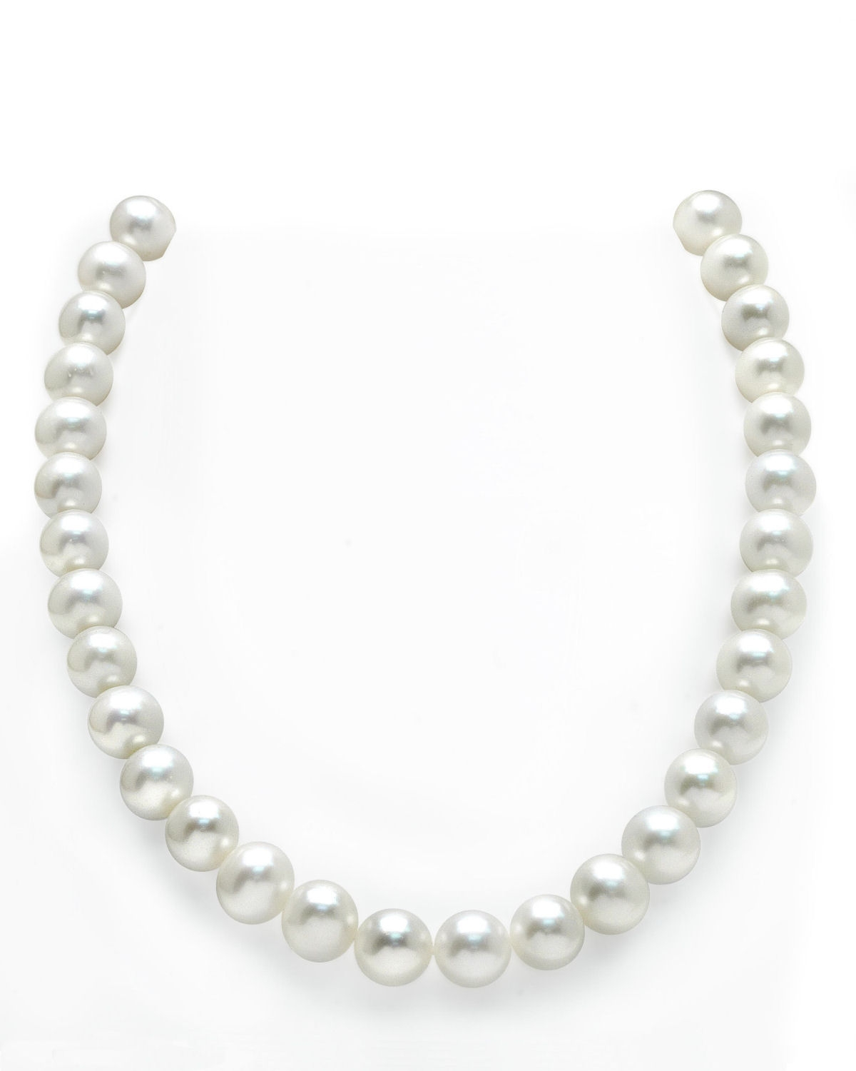 """THE PEARL SOURCE 14K Gold 11-12mm AAAA Quality White Freshwater Cultured Pearl Necklace for Women in 18"""" Princess... by The Pearl Source"""