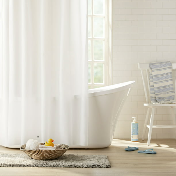 Clorox Peva Heavyweight Frosted Shower, What Size Shower Curtain Liner Do I Need