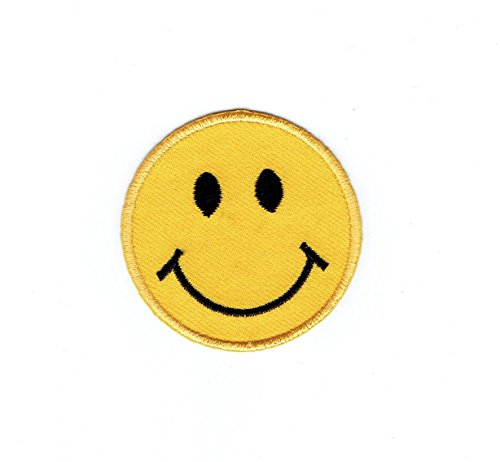 Smiley Face Emo Retro Kids Children Sew Iron On Embroidered Patch#1042