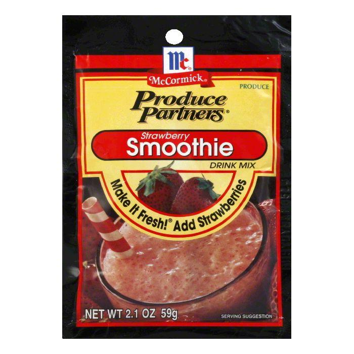 Produce Partners Smoothie Drink Mix Strawberry, 2.1 OZ (Pack of 12)
