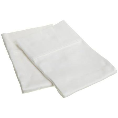 Superior 300 Thread Count Premium Long Staple Combed Cotton Solid Pillowcase Set