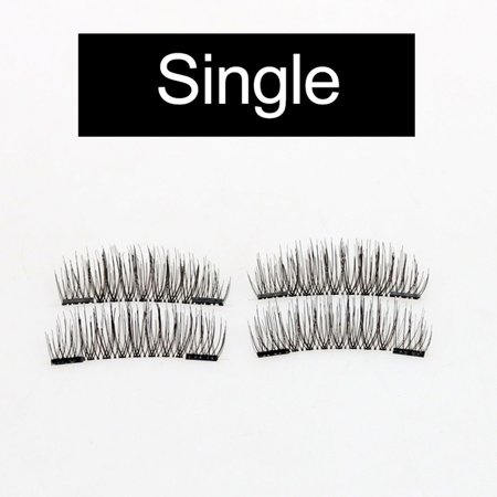 4Pcs 3D Magnetic Eyelashes Handmade Fake Eyelash Magnets Natural False Eyelashes Makeup Extension](Halloween Fake Eyelashes)