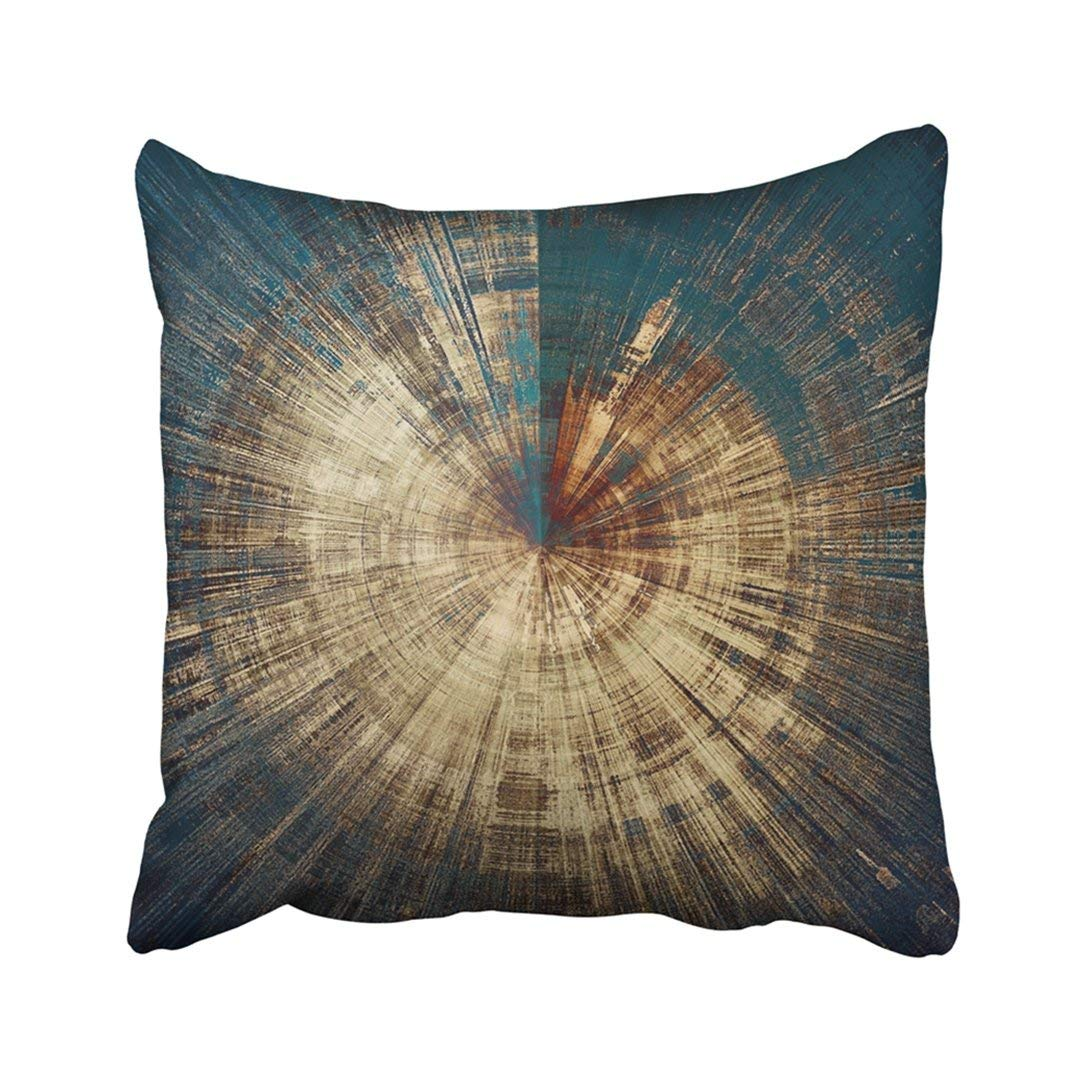 BPBOP Spherical Abstract Rough Colorful With Different Color Patterns Yellow Beige Brown Blue Pillowcase Pillow Cover 20x20 inches