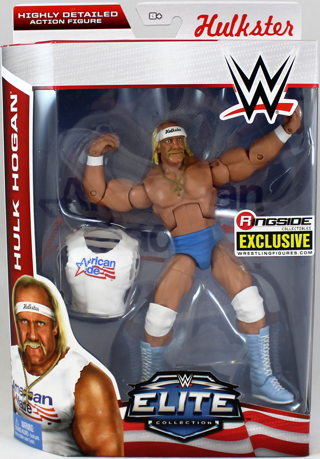 American Made Hulk Hogan Ringside Exclusive WWE Toy Wrestling Action Figure by