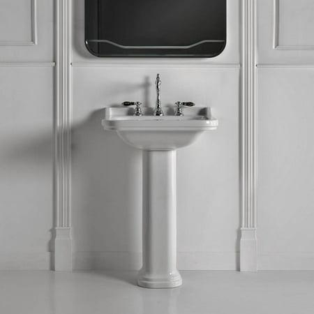 Ws Bath Collections Waldorf Ceramic 24 Pedestal Bathroom Sink With