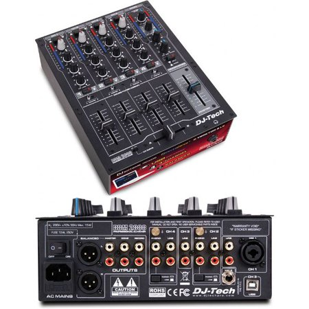 4 Channel Microphone Mixer (DDM2000USB Professional Compact 4 Channel Usb Dj Mixer W/multiple Photo, Line, & Mic Inputs)