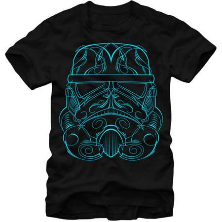 Star Wars Men's  Storm Trooper- 30 Single T-shirt Black
