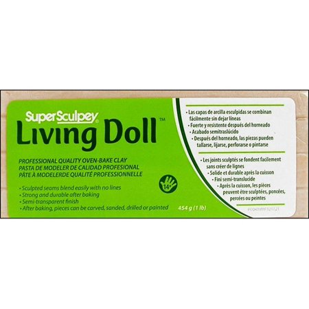 Sculpey Living Doll Clay: Beige, 1 pound (Best Clay For Doll Making)