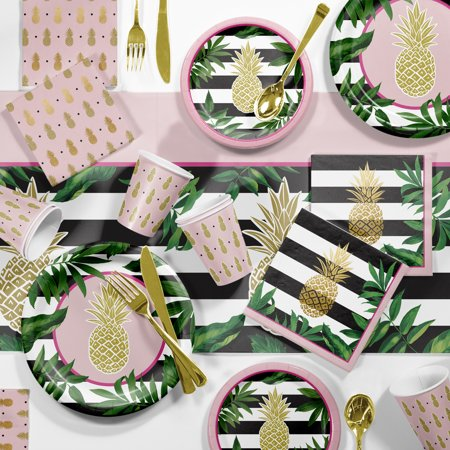 Large Golden Pineapple Party Supplies Kit (Party Suplies)
