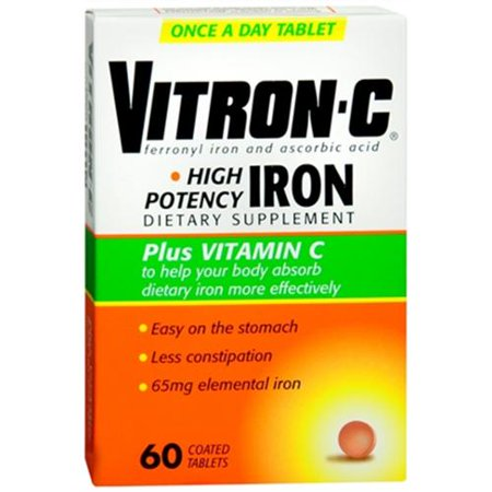 Vitron C Coated Tablets 60 Tablets  Pack Of 3