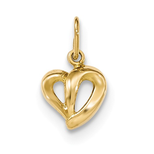 14k Yellow Gold Polished Heart Pendant