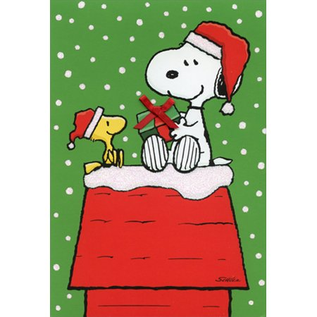 Hallmark Snoopy Woodstock Gift Exchange Box of 16 Peanuts Christmas - Christmas Gift Exchange Themes