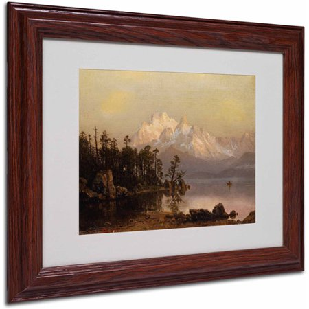 "Trademark Fine Art ""Mountain Canoeing"" Canvas Art by Albert Bierstadt, Wood Frame"