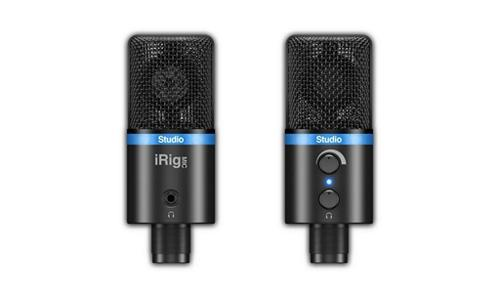 IK Multimedia iRig Mic Studio Digital Condenser Microphone (Black) by