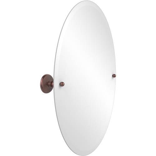 Frameless Oval Tilt Mirror with Beveled Edge (Build to Order)