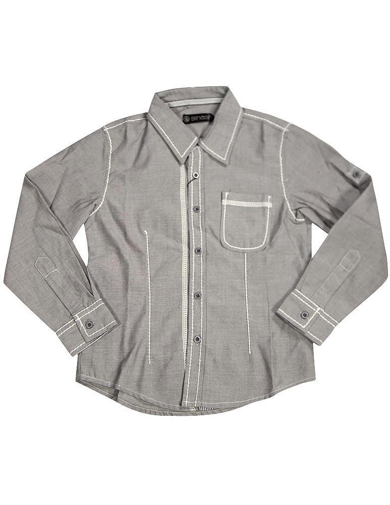 Smash Boys Sizes 4 - 14 Western Style Long Sleeve Button or Snap Down Shirt Top, 32947 black paisley / 14
