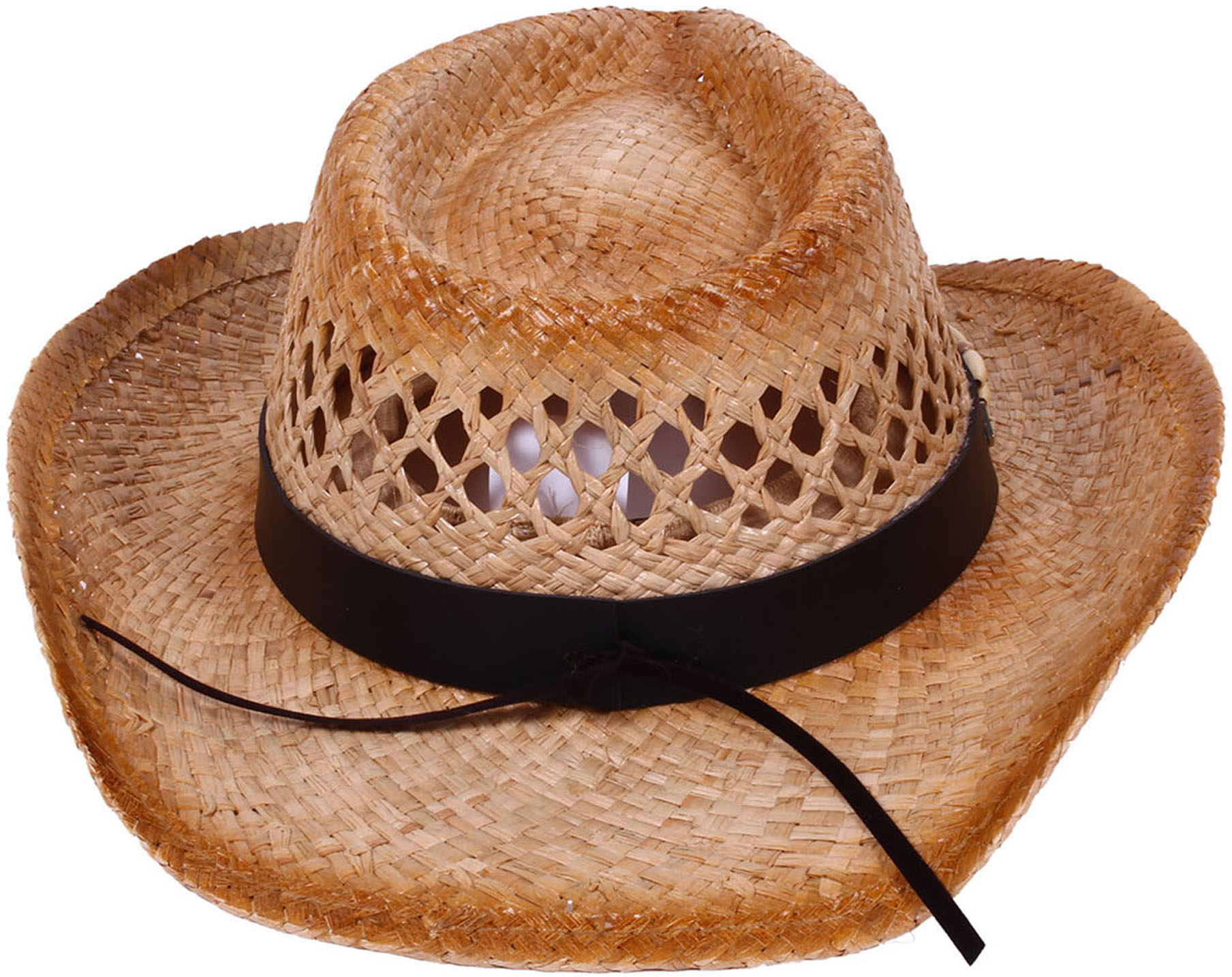 ee3597a602f39 BASILICA - Simplicity Boys Girls Straw Hat Beaded Band Western Cowboy Hat -  Walmart.com