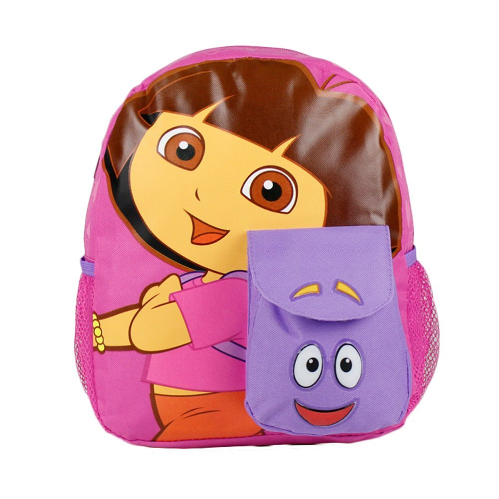 Small Size Pink Backpack and Dora the Explorer Bookbag - ...