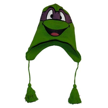 Teenage Mutant Ninja Turtle Donatello Purple Face Laplander Beanie](Ninja Turtle Face Painting)