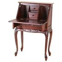 Bowery Hill Small Secretary Desk in Dual Walnut
