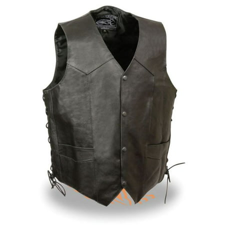 Milwaukee Event Mens Side Lace Live to Ride Vest w/Flying Eagle