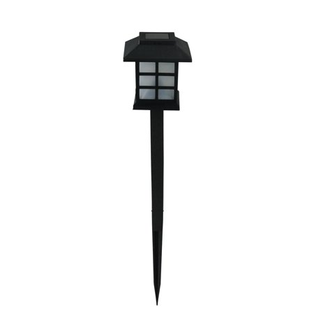 "11.25"" Black Chinese Lanterns Solar Light with White LED Light and Lawn Stake - image 1 of 2"