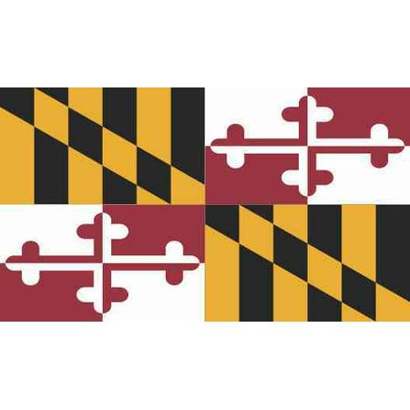 State Flag Bumper Sticker - 3.5in×2in Maryland State Flag Sticker Bumper Decal Vinyl Car Window Decals