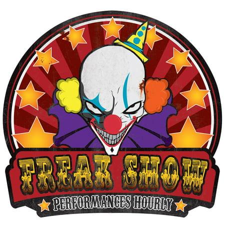 Freak Show Metal Sign Halloween Decoration