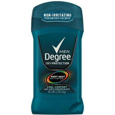 Degree Men Anti Perspirant Invisible Stick Cool Comfort 2 70 Oz  Pack Of 4
